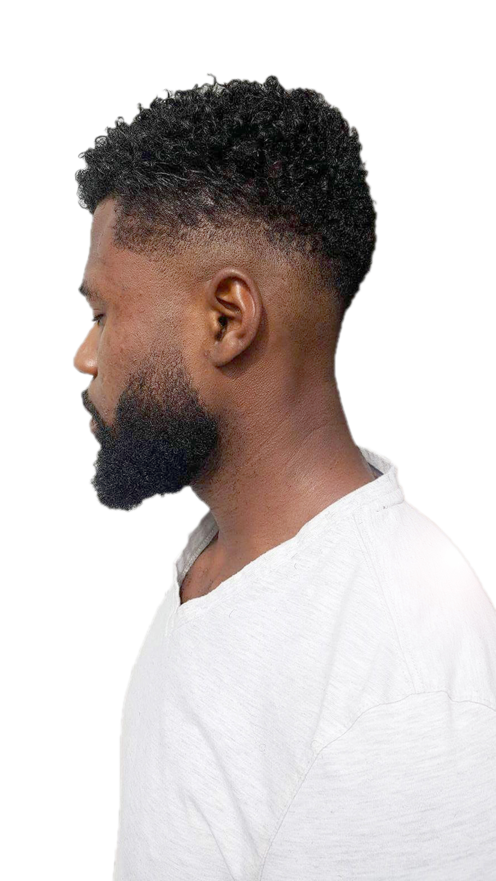 Beard and fade on atta