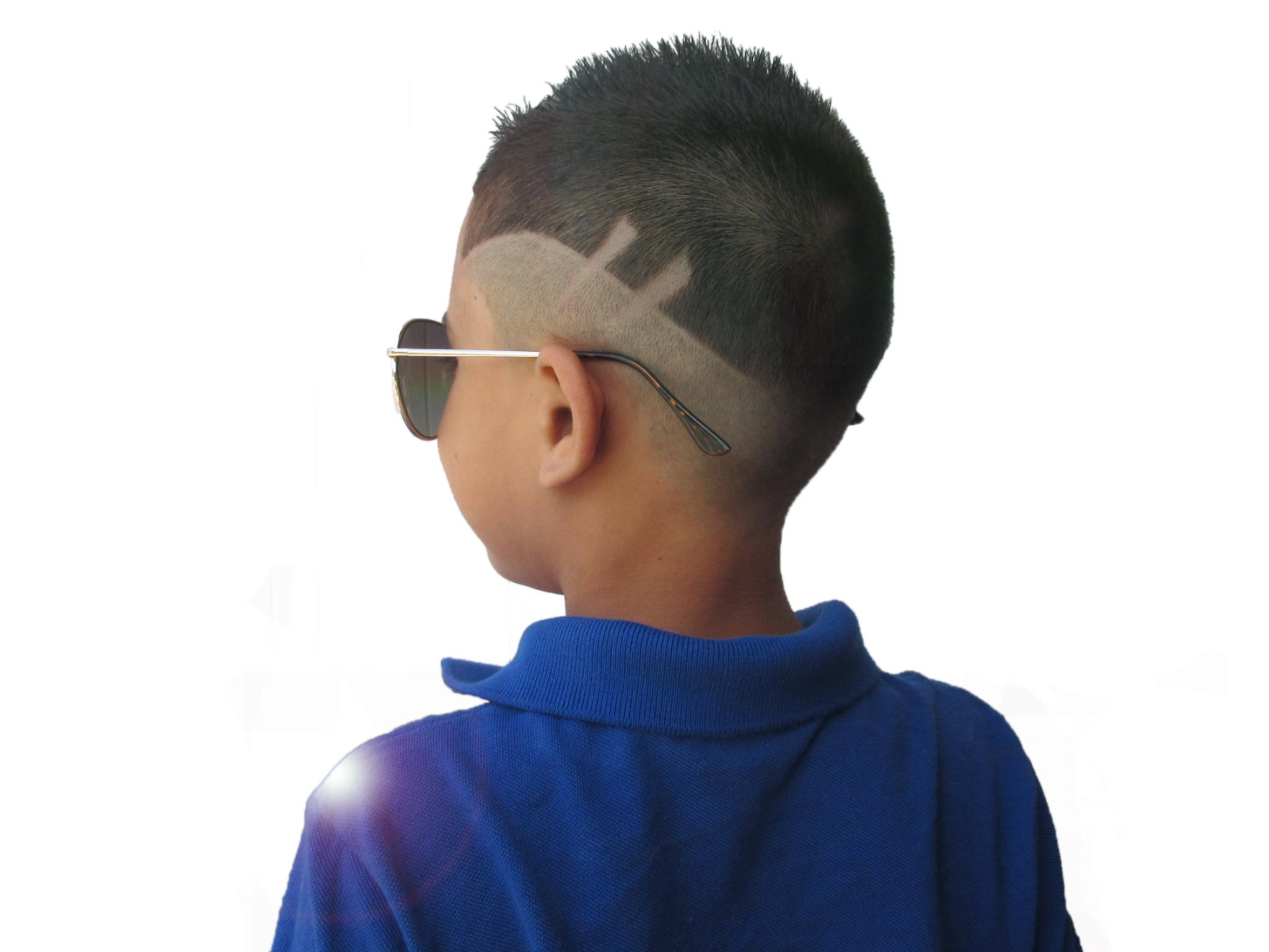 khaki kids haircut with MoCutz